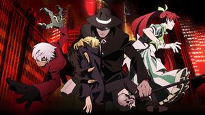 「劇場版BEM~BECOME HUMAN~」メインビジュアル。中央は刑事ソニアを抱く妖怪人間ベム。左がベロ、右がベラ (C)ADK EM/劇場版BEM製作委員会