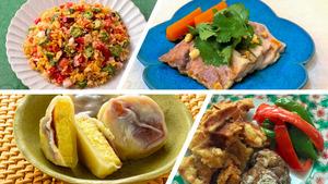 「料理メモ」の最近のメニューから。作り置きできる料理やおやつなど、どれも作りやすいレシピで紹介している