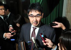 元法相で衆院議員の河井克行被告=1月23日