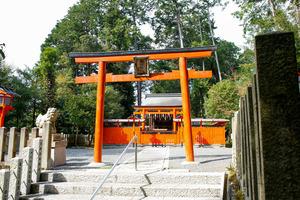 お菓子の神様をまつる「菓祖神社」=京都市左京区、槌谷綾二撮影