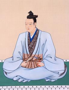 明智光秀画像復元模写(滋賀県立安土城考古博物館提供)