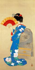 竹内栖鳳「アレ夕立に」=1909(明治42)年、高島屋史料館(11月3~29日展示)