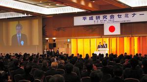 都内のホテルで開かれた自民党竹下派(平成研究会)の政治資金パーティー=2020年10月30日午後5時51分、東京都港区、大久保貴裕撮影