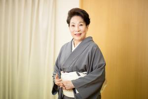 舞台生活70周年の波乃久里子さん=大野洋介撮影