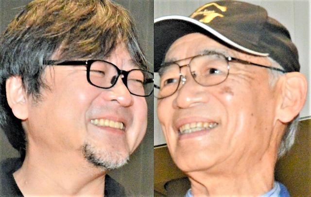 対談した細田守監督(左)と富野由悠季監督