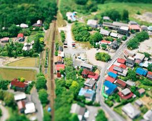 「本城直季」展の開催地の千葉県市原市を撮り下ろした作品。「Ichihara, Japan」(「small planet」シリーズから。2020年)(C)Naoki Honjo