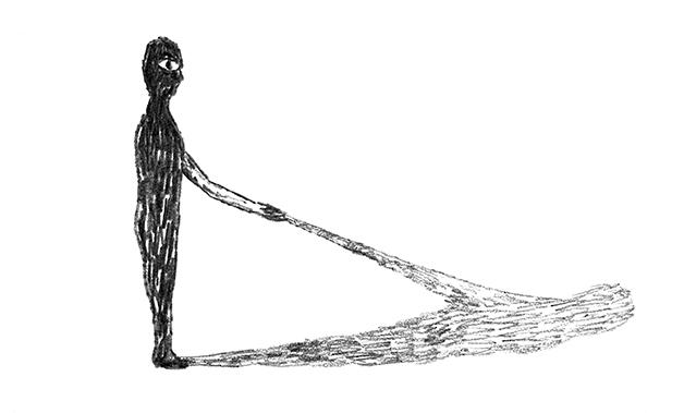 「影と握手」 絵・皆川明