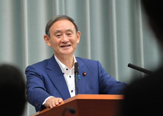 官房長官としての最後の記者会見に臨んだ菅義偉氏。3213回目の会見で「会見はなかなか難しいという風にずっと思い続けている」と語った=2020年9月14日午前11時21分、首相官邸、恵原弘太郎撮影