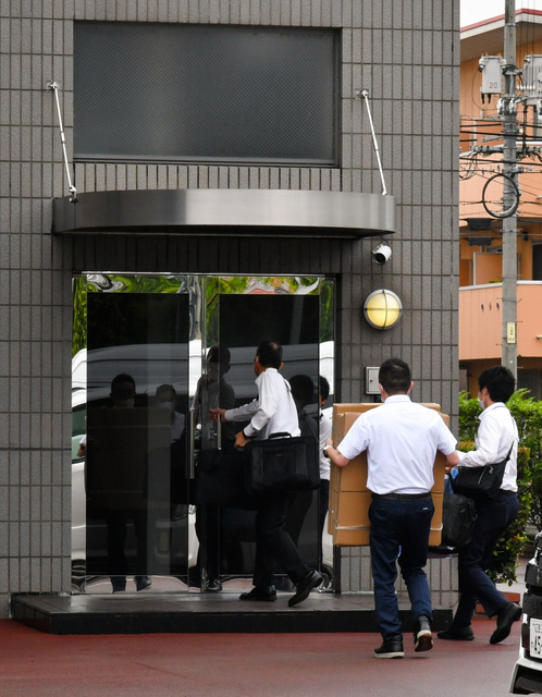 前代表が贈賄罪で起訴された鶏卵大手アキタフーズの本社には、2020年7月に家宅捜索が入った=広島県福山市、佐藤英法撮影