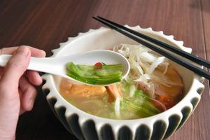 サボテンの薄切り。しゃきしゃきの食感=愛知県春日井市東野町4丁目の中華料理店「四川」