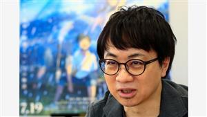 新海誠監督。「天気の子」公開時のインタビューです=2019年7月19日、東京都千代田区