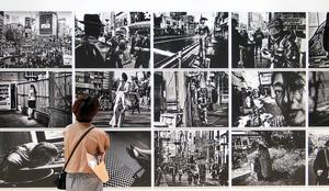 東京都写真美術館「森山大道の東京」展の展示風景=2020年6月