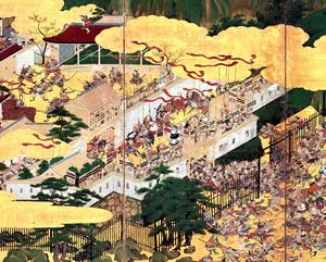 源平合戦図屛風(一部、兵庫県立歴史博物館蔵)