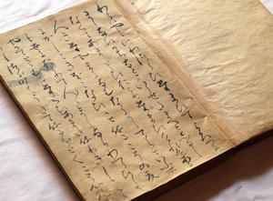 新発見の源氏物語「若紫」の写本の冒頭部分=大河内元冬氏蔵