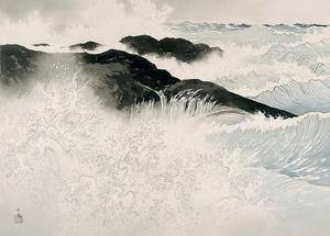 「荒海」=山種美術館蔵