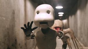 「JUNK HEAD」から、怪物に追われる主人公。人間だが劇中でいろんな体に改造されてしまう (C)2021MAGNET/YAMIKEN