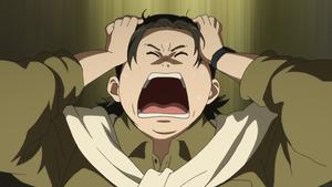テレビアニメ「SHIROBAKO」から、「万策尽きたー!」のシーン (C)「SHIROBAKO」製作委員会