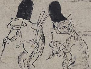 「鳥獣戯画 甲巻」(部分) 平安時代 京都・高山寺蔵