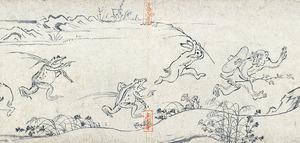 国宝「鳥獣戯画 甲巻」平安時代・12世紀 京都・高山寺蔵