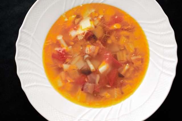 野菜スープ=合田昌弘撮影