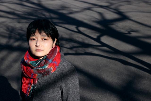 「先生と生徒は対等ではない。生徒は断れないし、被害だと認識できない」。石田郁子さんは自らの体験を語り、教師からの性暴力の防止策を訴える=2021年2月16日午後2時40分、東京都千代田区、上田幸一撮影