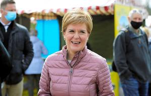 スコットランド国民党党首、スコットランド自治政府第一大臣(首相)のニコラ・スタージョン氏=ロイター