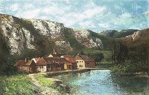 ギュスターヴ・クールベ「フランシュ=コンテの谷、オルナン付近」(1865年ごろ、茨城県近代美術館蔵)