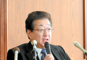 旭川医大の吉田晃敏学長=2020年1月