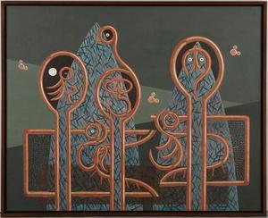 小牧源太郎「鳥紋図形」1941年