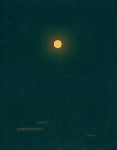 「月」=福岡県立美術館蔵