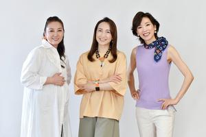 (左から)愛華みれ、稔幸、真琴つばさ=伊ケ崎忍撮影