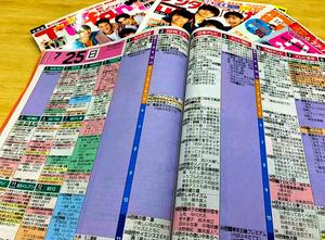 五輪期間中、NHKの番組内容が未定になっているテレビ誌