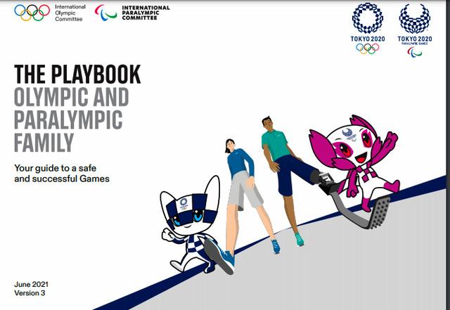 東京五輪・パラリンピックにおける「オリパラファミリー」向けの行動ルールをまとめた「プレーブック」の第3版