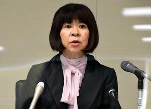広島高検検事長に着任した畝本直美氏=2021年8月2日午後、広島高検、戸田和敬撮影