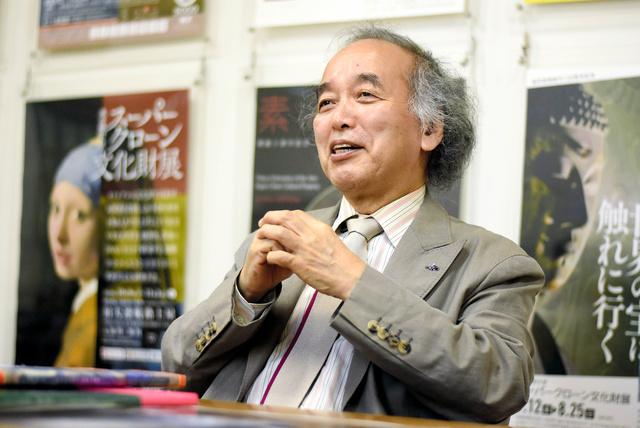 東京芸術大学の名誉教授、宮廻正明さん=2021年9月10日、東京都台東区、笠原真撮影