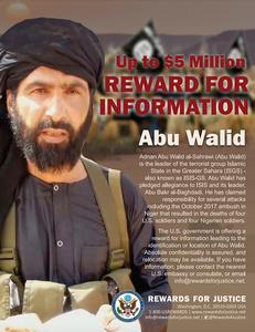 アドナン容疑者。テロリストの情報を懸賞金付きで求める米政府のサイト「正義への報酬」から=AP
