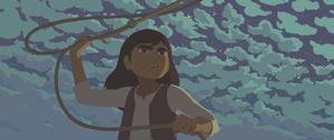 「カラミティ」の主人公マーサ・ジェーン・キャナリーは西部を旅する12歳の少女