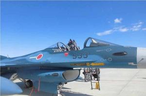 事故で風防が外れたF2戦闘機=防衛省統合幕僚監部提供
