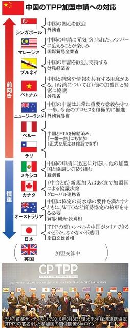 中国のTPP加盟申請への対応