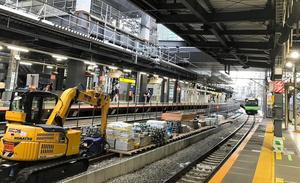 工事の準備が進む渋谷駅=JR東日本提供