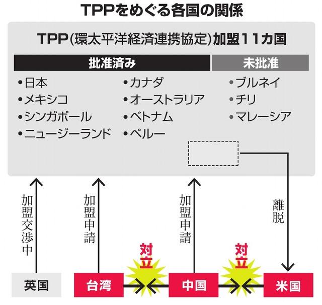 TPPをめぐる各国の関係