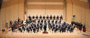 金賞に決まった伊奈学園総合高校の演奏=2021年10月24日午後4時、名古屋国際会議場、瀬戸口翼撮影