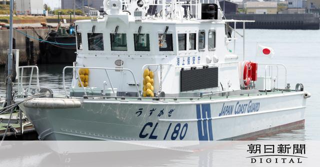 徳島)新巡視艇「うずかぜ」就役 小松島で披露式