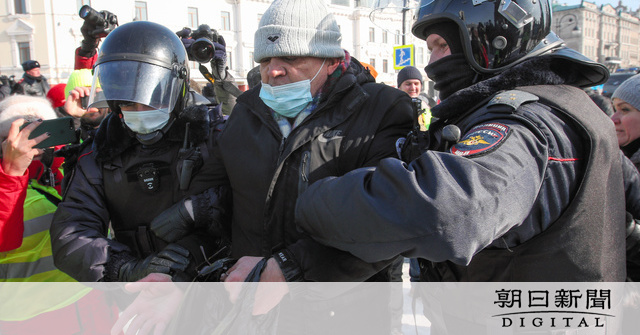 反プーチン政権デモ、ロシア全土で再び 多数の拘束者