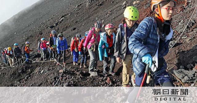 富士登山コロナ対策「任意で検温」、ふもと自治体が懸念:朝日新聞デジタル