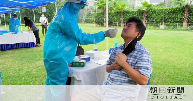 インドからの帰国を支援 日本人専用のPCR検査場で