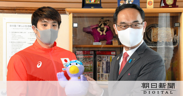 競泳・瀬戸大也、埼玉県庁を訪問「頑張っている姿見て」