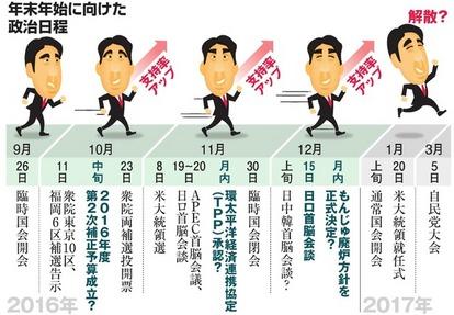 年末年始に衆院解散」が首相の狙い? 広がる臆測:朝日新聞デジタル