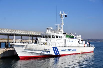 愛知)巡視艇「いせゆき」、就役式でお目見え 第4海保:朝日新聞デジタル