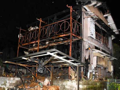 千葉市で住宅全焼し男性負傷 停電復旧後の通電火災か:朝日新聞デジタル